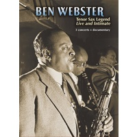 Ben Webster / motion picture DVD - Tenor Sax Legend: Live and Intimate