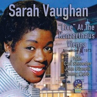 "Sarah Vaughan - ""Live"" at the Konzerthaus Vienna: November 1973"